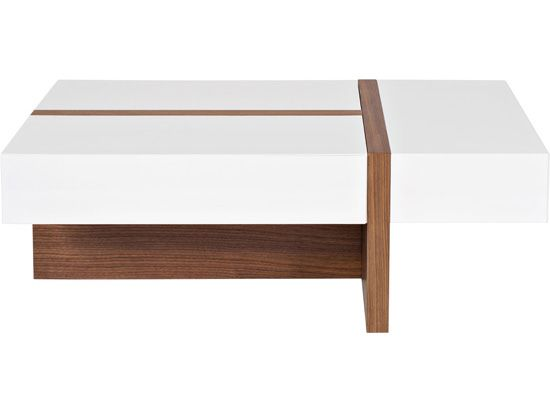 Dania The Prindy Coffee Table Offers A Great Dichotomy Between Its High White Gloss Finish And