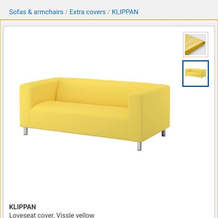 Terrific Details About New Ikea Klippan Loveseat Cover Vissle Yellow Gmtry Best Dining Table And Chair Ideas Images Gmtryco