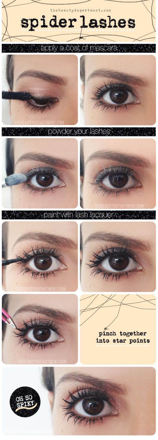 """Spider Lashes"" Oh yeah. That's exactly what i want to do. Make my lashes clump more l:"