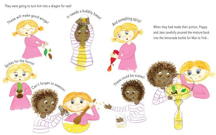Spread from the children's book 'Magic Tricks'