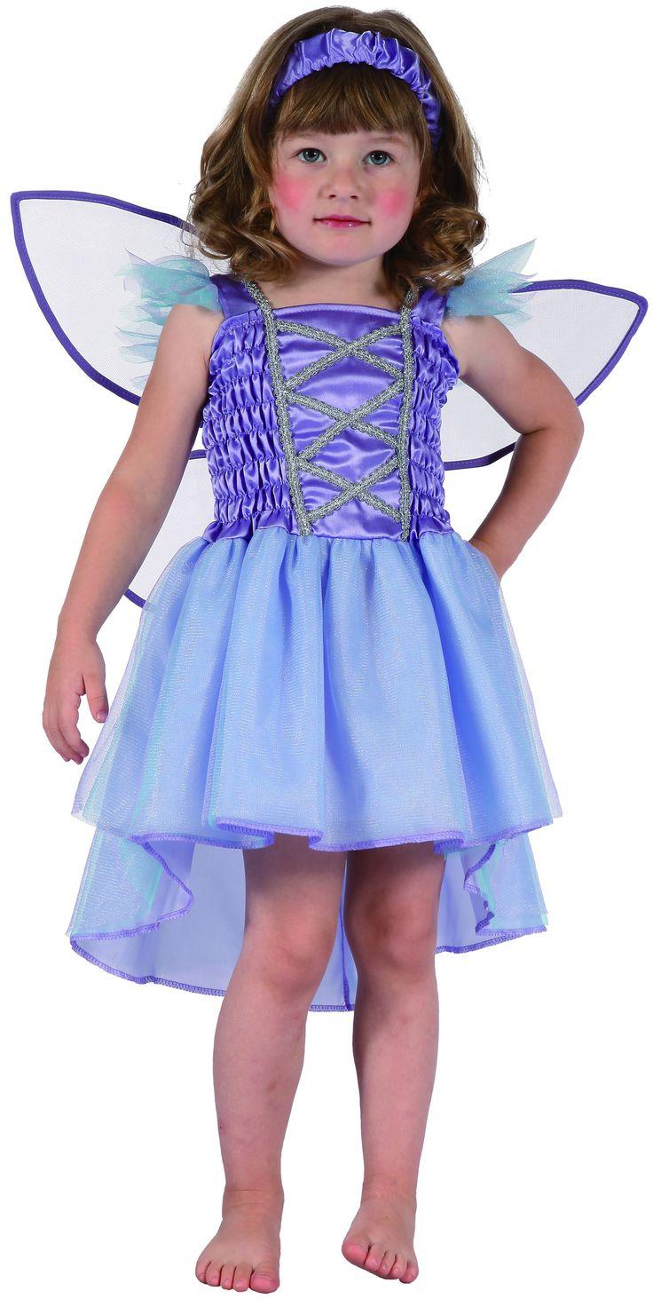 Disfraz hada violeta niña: Este disfraz de hada violeta para niña incluye un vestido, una cinta para el pelo y unas alas. El vestido es de color violeta sin mangas. A la altura del pecho lleva una lazada plateada. Los...