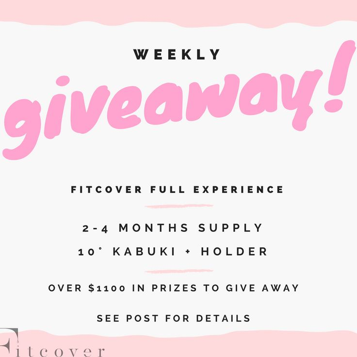 To win your share of Fitcover fitness foundation just click this link & enter for a chance to win!! >>