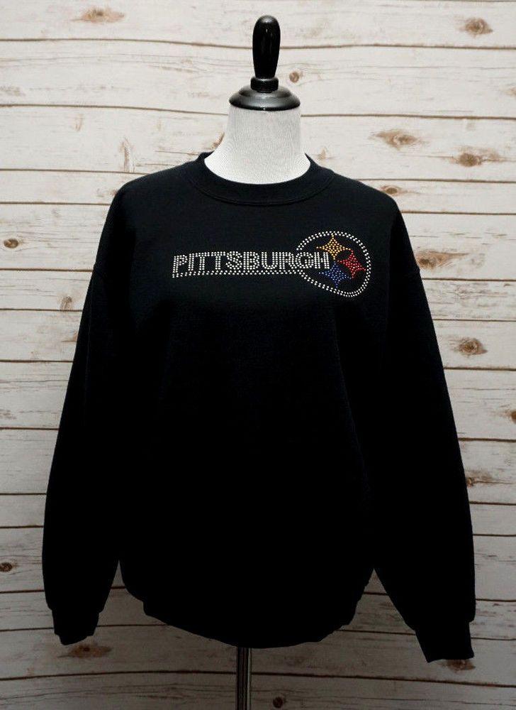 buy popular e3fca 1af62 Pittsburgh Steelers ~ Womens Medium ~ Rhinestone Bling Fan ...