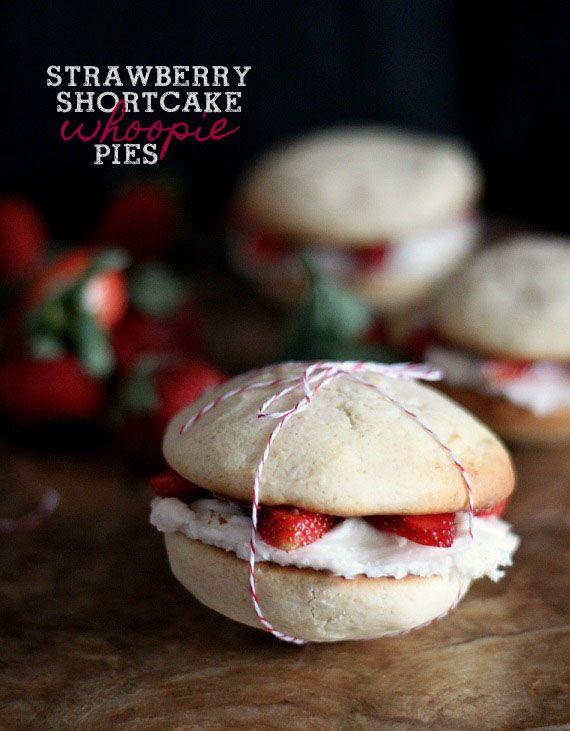 Strawberry Shortcake Whoopie Pies