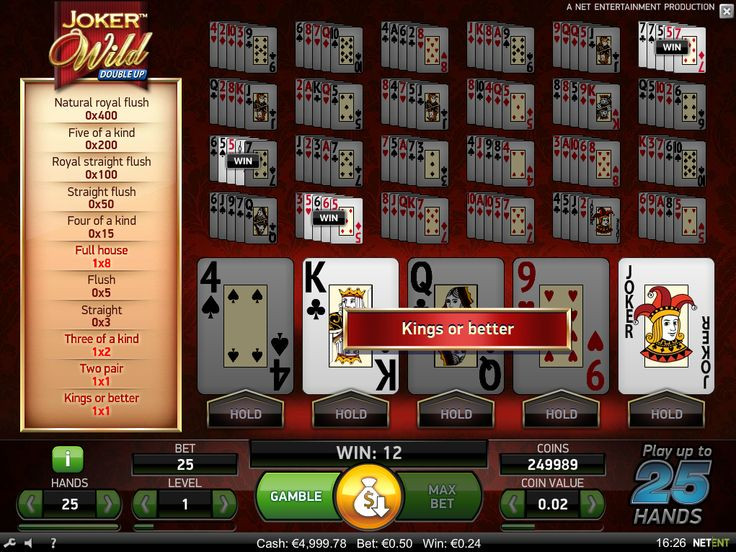 Joker Wild video poker is available for #play - https://www.wintingo.com/