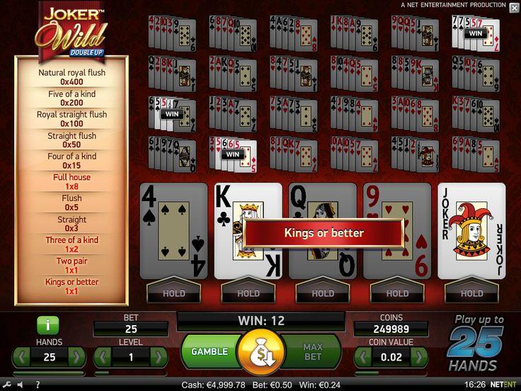 Joker Wild video poker is available for #play - https://www.wintingo.com/