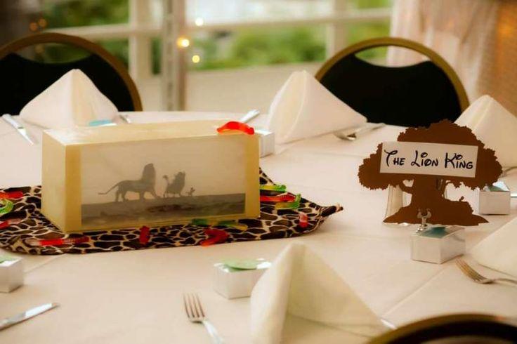 Decorazioni per il matrimonio a tema cinema - Tavolo a tema cartone animato