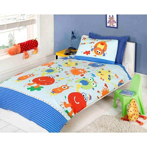 Boy S Quilt Duvet Cover Bedding Sets Single Or Double: Kids Quilt Cover Multi Coloured