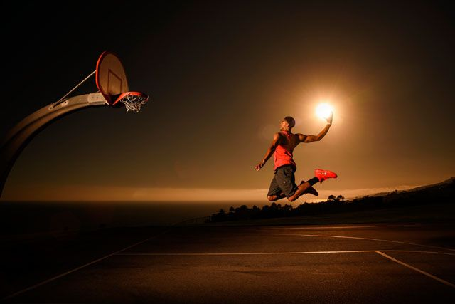 """Red Bull recently came to me with an interesting idea: """"We'd like you to photograph NBA star Anthony Davis dunking the sun."""" I responded, """"Can we also have"""