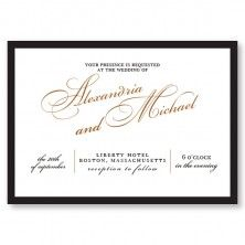 Get the London Look with these classy real foil invitations.  New at The American Wedding https://www.theamericanwedding.com/london-wedding-invitations.html