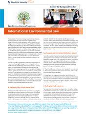 International Environmental Law.  #studyabroad #travel #europe #CES #CESMaastricht #Maastrichtuniversity #exchange