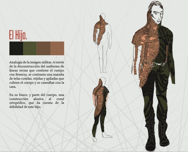 Boceto vestuario personaje: Hijo