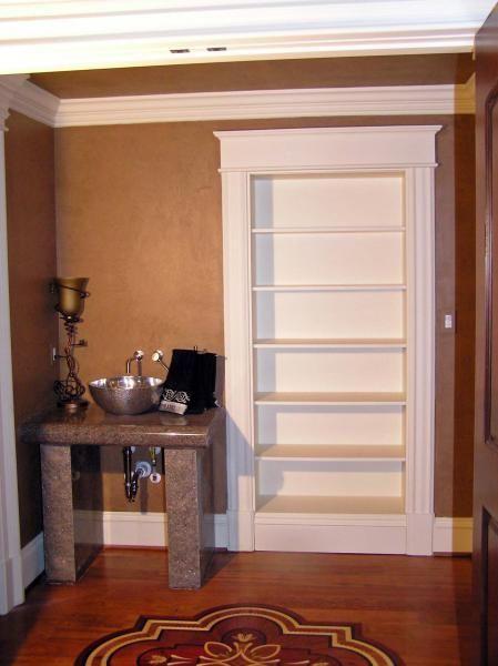 Concealed closet/hidden storage