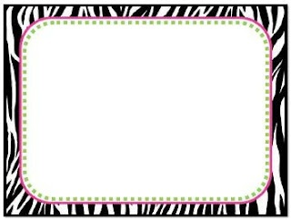 First Grade Fever!: printable zebra labels