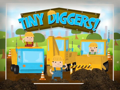 Description    ✰ THE BEST CONSTRUCTION TRUCK APP FOR KIDS! ✰    Tiny Diggers is a fun, educational game for Preschoolers, aged 2-5, that puts your child in the seat of popular construction trucks. Drive an excavator while mastering numbers, a dumptruck while learning colours, and a bu