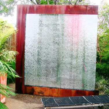 gh design has designed and installed several water wall fountains all of them maximizing the