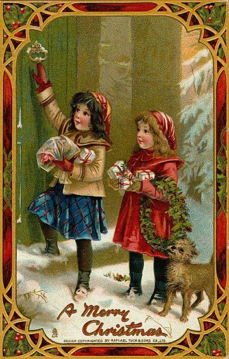 Рождественские иллюстрации и открытки