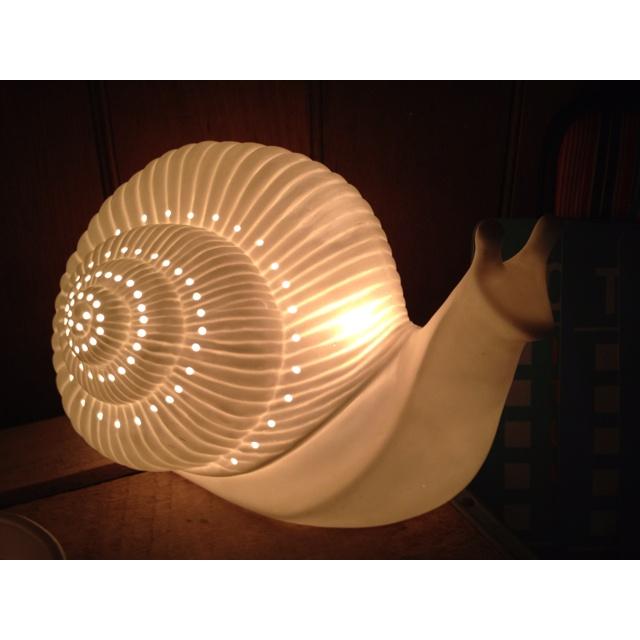 Bone china snail night light