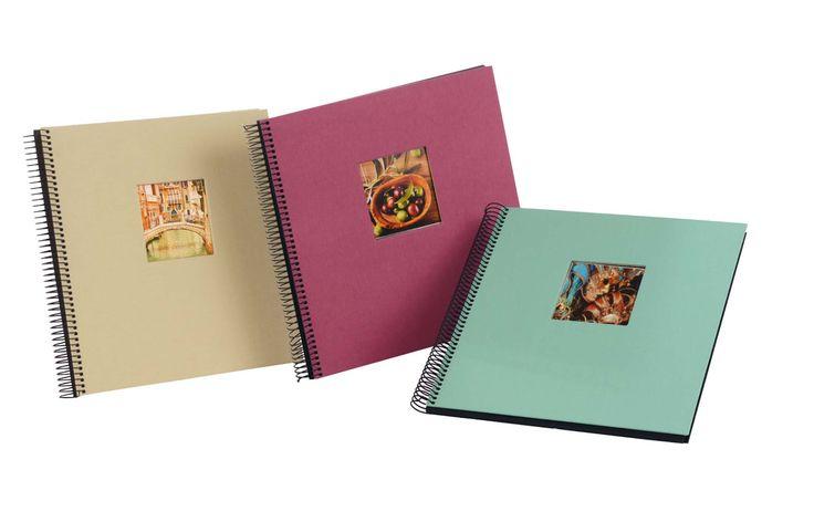 goldbuch Fotoalbum Bella Vista Trend als quadratisches Spiralalbum mit Fenster