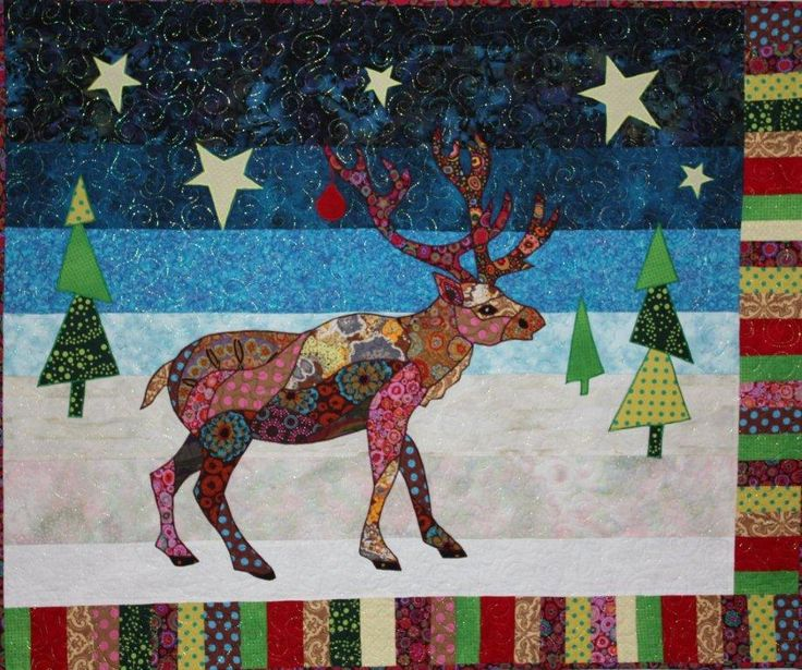 Randolph reindeer quilt pattern by barbara jones rendieren reindeer pinterest quilt - Appliques exterieures ontwerp ...