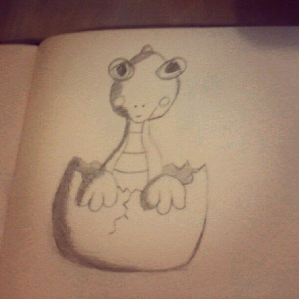 (Not best quality picture) Baby dino :)