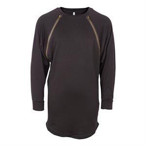 Lækker sort kjole fra Grunt - model Zipper Dress