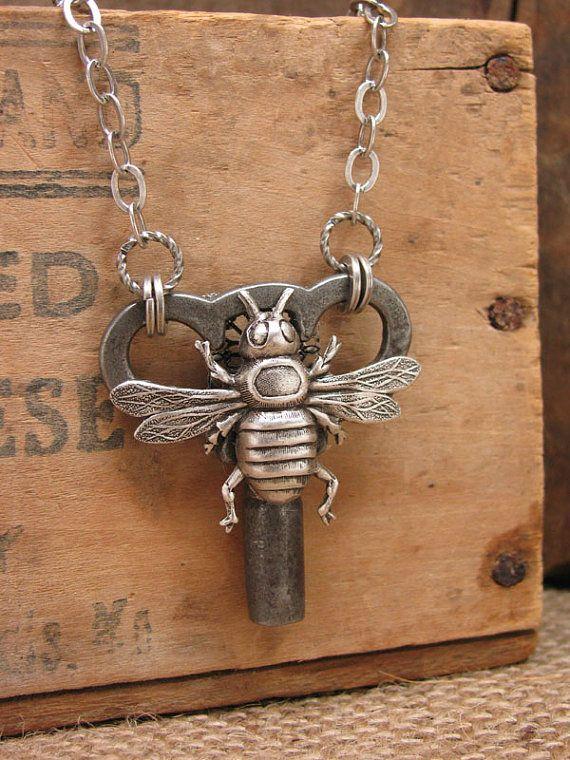 Skeleton Key Jewelry  Upcycled Winder Key Necklace by thekeyofa, $59.00