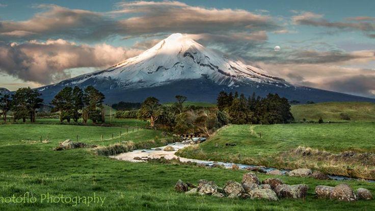 Mt Taranaki June 22nd 2013 from Wiremu Rd