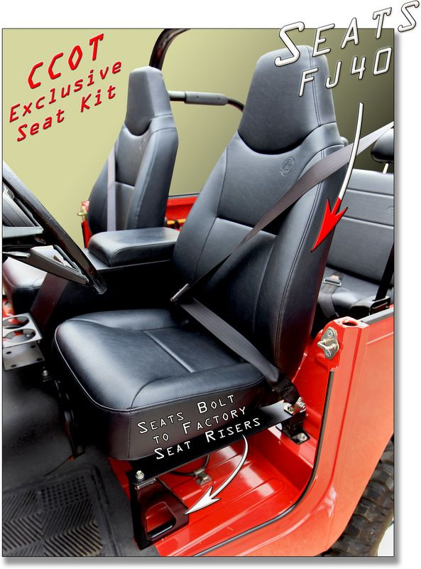 Exclusively At Ccot Fj40 Seat Conversion System Fj40 Jump Seats Seating