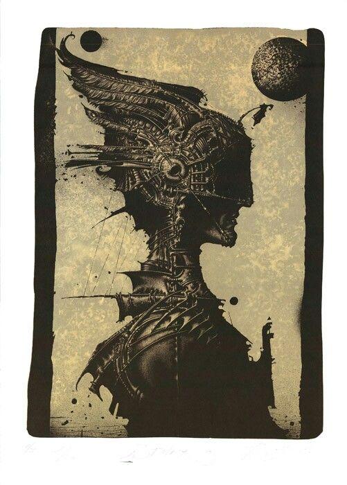 """R. Sustov  """"Stalker"""" lithgraphy 42/62cm 2013"""