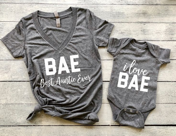 BAE + I Love BAE   Set of 2, BAE best auntie ever, pregnancy announcement shirt, pregnancy announcement to aunt, aunt shirt, auntie shirt, gift for aunt, auntie and baby matching outfit, pregnancy reveal, baby reveal, baby announcement, aunt squad