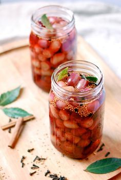 Quick-Pickled Grapes. Quick-pickled grapes are sweet, and spicy, and just really good. Their flavor is intensely surprising, something you can't quite put your finger on.
