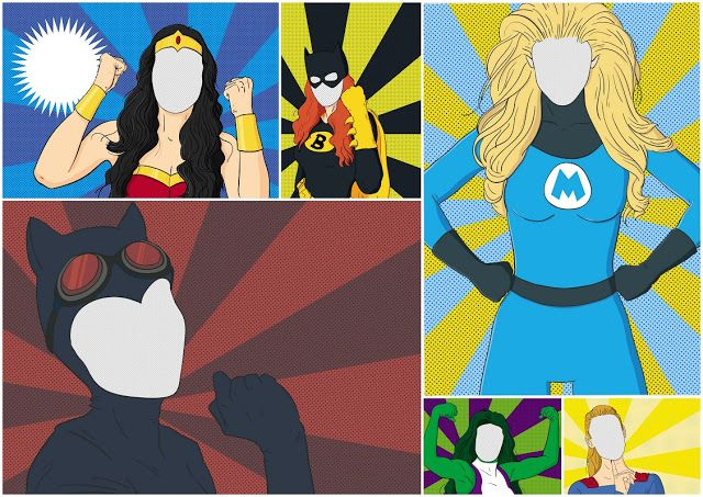 Superheroe Mom: Free Printable Party Invitations or Cards.