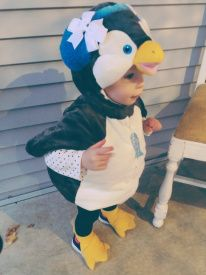 Toddler or Baby Penguin Costume #costume #babycostume #halloween #penquin #cutekids