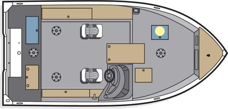 New 2013 Polar Kraft Boats Frontier 179 SC Multi-Species Fishing Boat