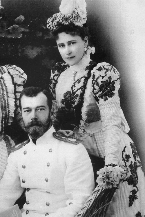 Nicholas II with his sister-in-law and 'aunt' Grand Duchess Elisabeth Feodorovna.