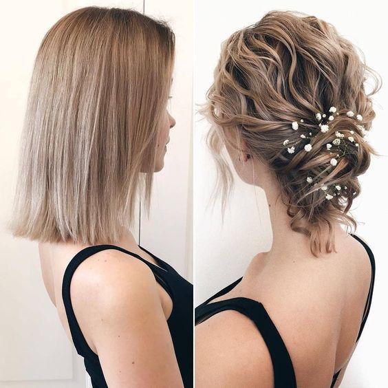 Risos & Risos: 10 erstaunliche Frisur-Ideen für kurzes Haar … # Frisuren # …   – Peinados