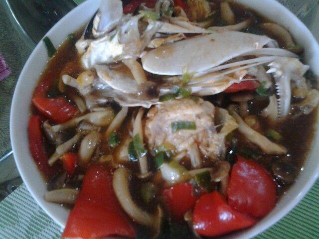 Steam ikan with mushroom