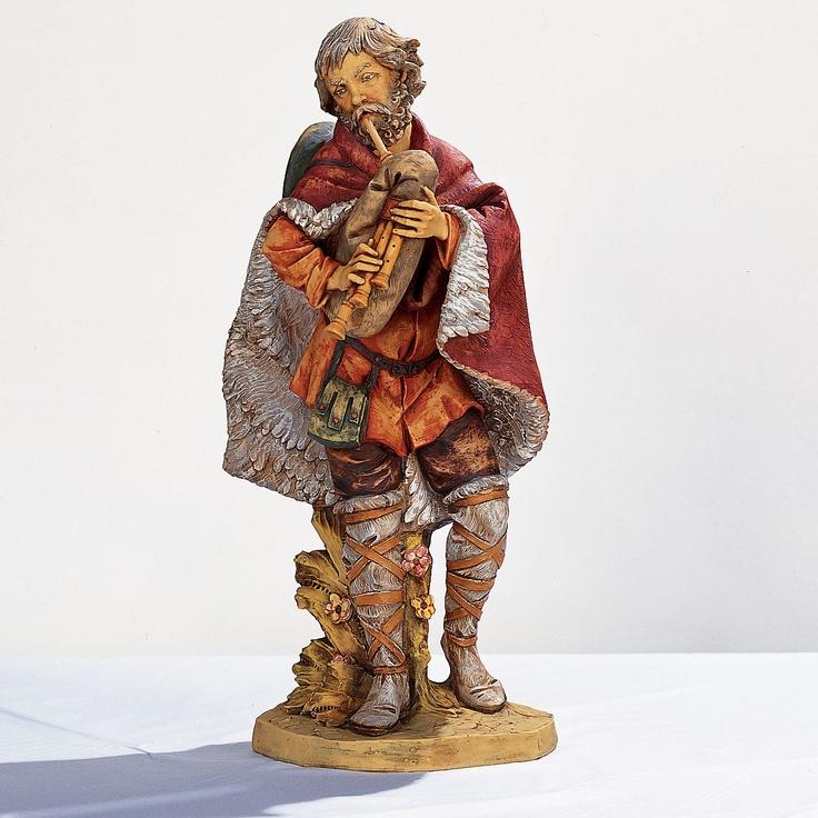 "Fontanini 27"" Scale Josiah Bagpiper Figurine | Bagpipe | Pinterest"