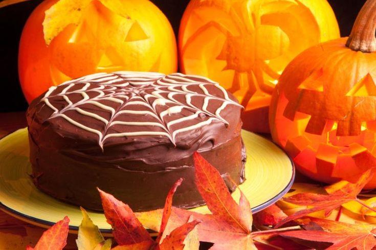 Halloweenska čokoládová torta | Recepty.sk