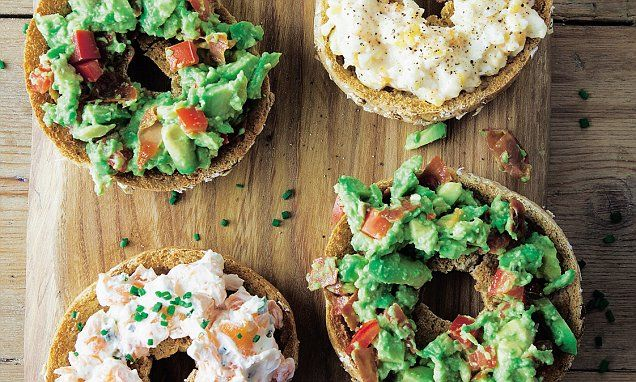 Davina McCall: Pitted bagels