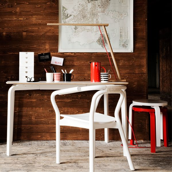 Artek Lento table, Normann Copenhagen Knot chair and Pablo Clamp lamp