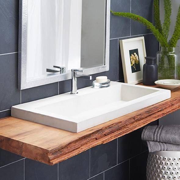 native trails stone bathroom sinks nativestone trough 3619p pearl wave plumbing
