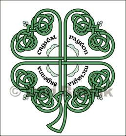 custom tattoo design featuring a knotwork 4 leaf clover celtic ... Would like to get kids' names in each leaf