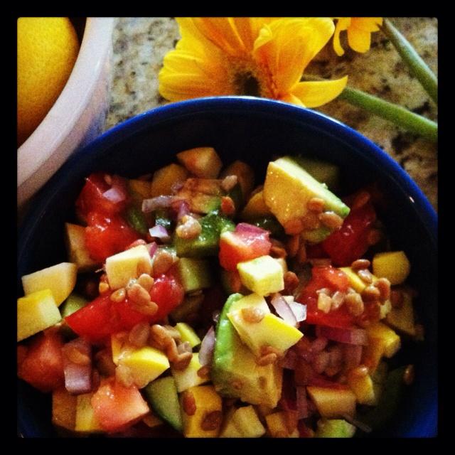 Raw Baby Kale Salad With Apples, Sunflower Seeds, And Lemon-Dijon ...