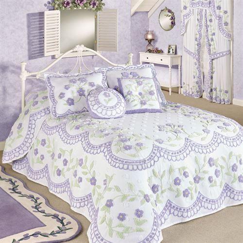 Cottage Garden Grande Bedspread Lavender