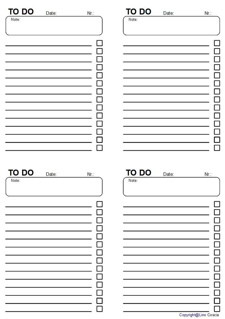 Free To Do List Printables