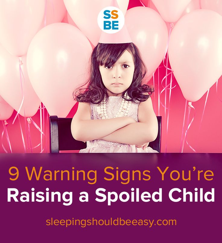Click here to read 9 warning signs you're raising a spoiled child: http://sleepingshouldbeeasy.com/2013/09/27/9-warning-signs-youre-raising-a-spoiled-kid/ #parenting #spoiled #child