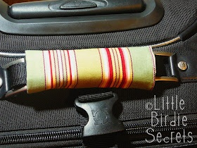 Little Birdie Secrets: how to make a luggage handle cover