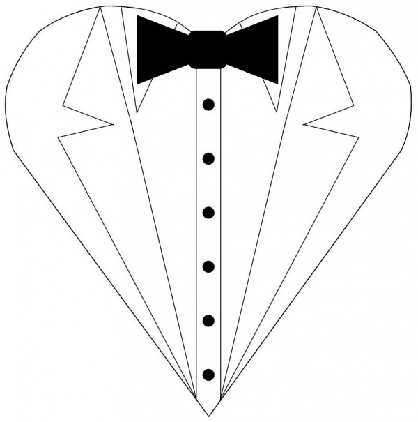 Tuxedo heart template